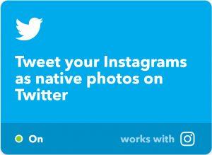 IFTTT Applet Instagram zu Twitter