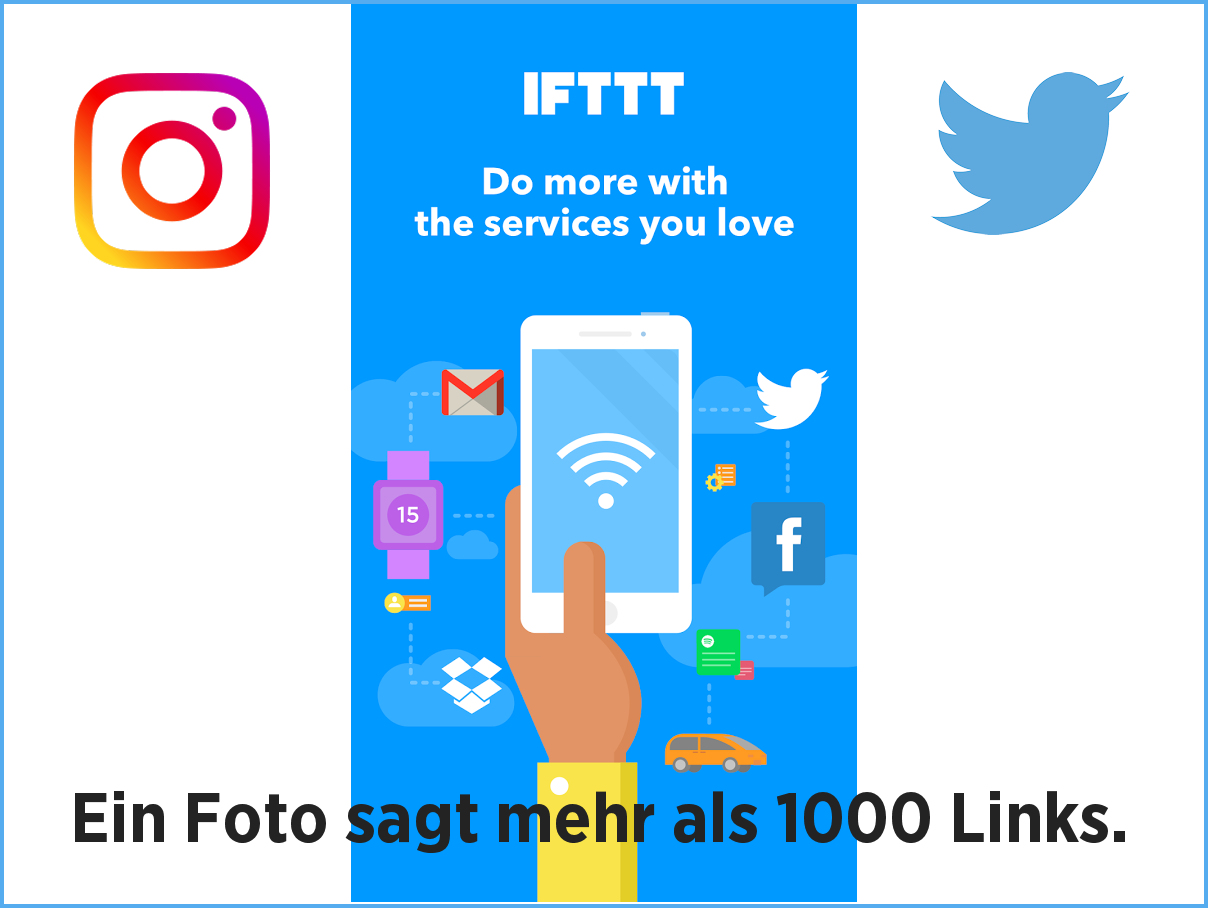 Mit der IFTTT Fotos von Instagram auf Twitter teilen.