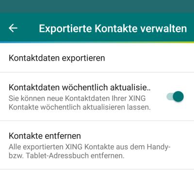Kontakte aus XING-App exportieren