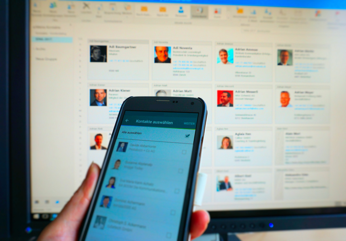 XING-Kontakte via App vom Smartphone ins Outlook synchronisieren