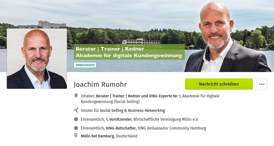 Hier geht's zum XING-Profil von Joachim