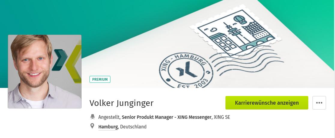 Hier geht's zum XING-Profil von Volker